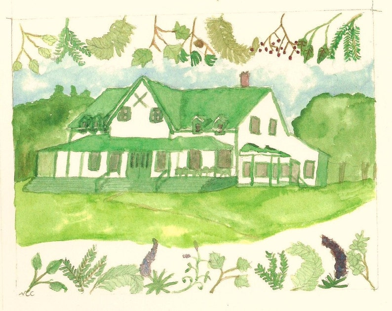 Milford House comes in sets of five note cards and envelopes image 0
