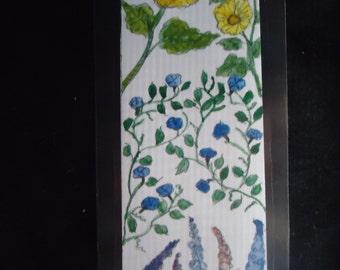 Laminated Flower bookmark
