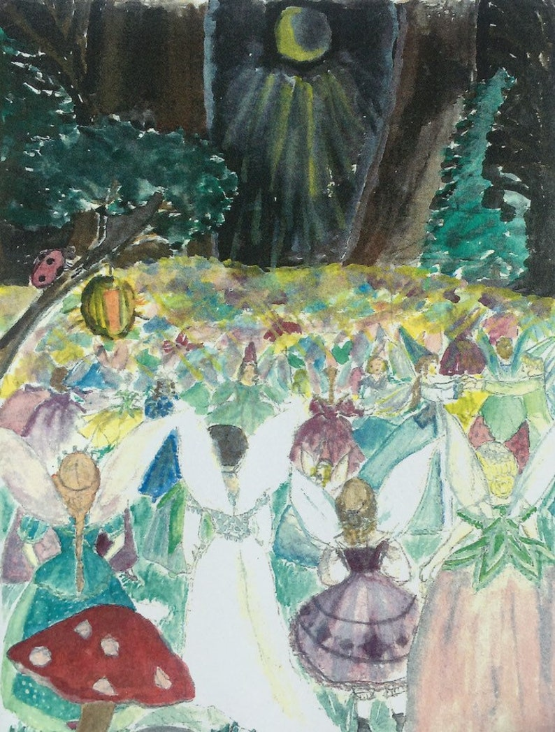 Fairy Ball note cards come in sets of five with envelopes in a image 0
