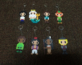 Disney Men (Princes or Otherwise) Keychains - Homemade
