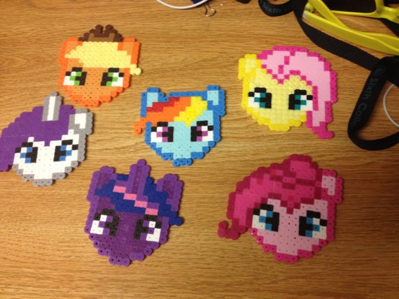 My Little Pony Perler Bead Necklace Homemade Twilight Etsy