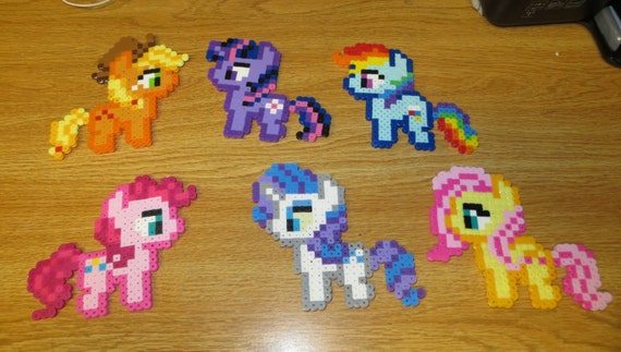 My Little Pony Perler Bead Magnets Homemade Twilight Etsy