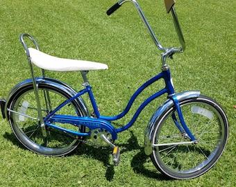 9ba98b20dae Blue Bantam Schwinn Banana Seat Bicycle