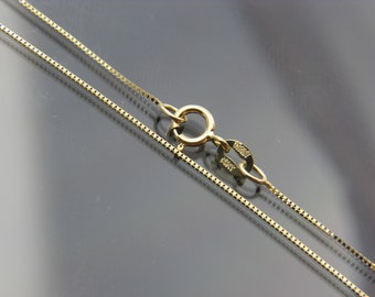 bd6aca9af0da 14kt yellow gold box link chain necklace pendant chain  16