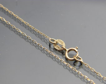 "10kt yellow gold cable link chain necklace pendant chain 16"",16"",20"",22"",24""(WHOLESALE PRICE)"