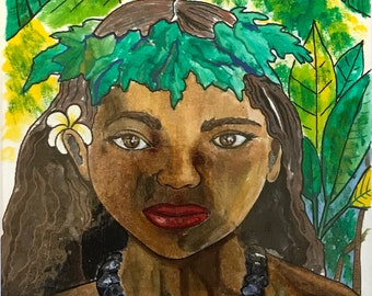 Girl of the Islands original Acrylic