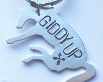 Giddy Up Western, Country, Cowboy or Cowgirl Keychain