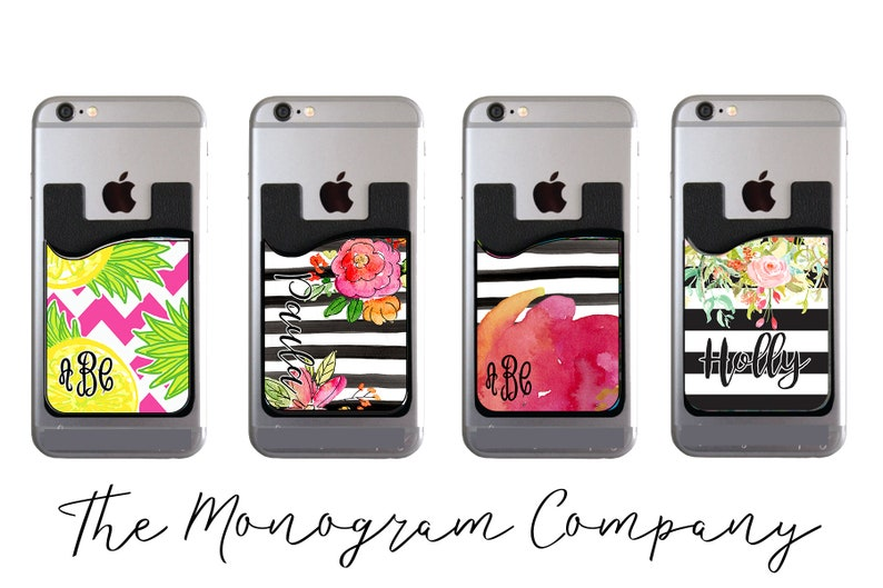Cell Phone Card Holder >> Custom Cell Phone Card Holder Personalized Credit Card Etsy