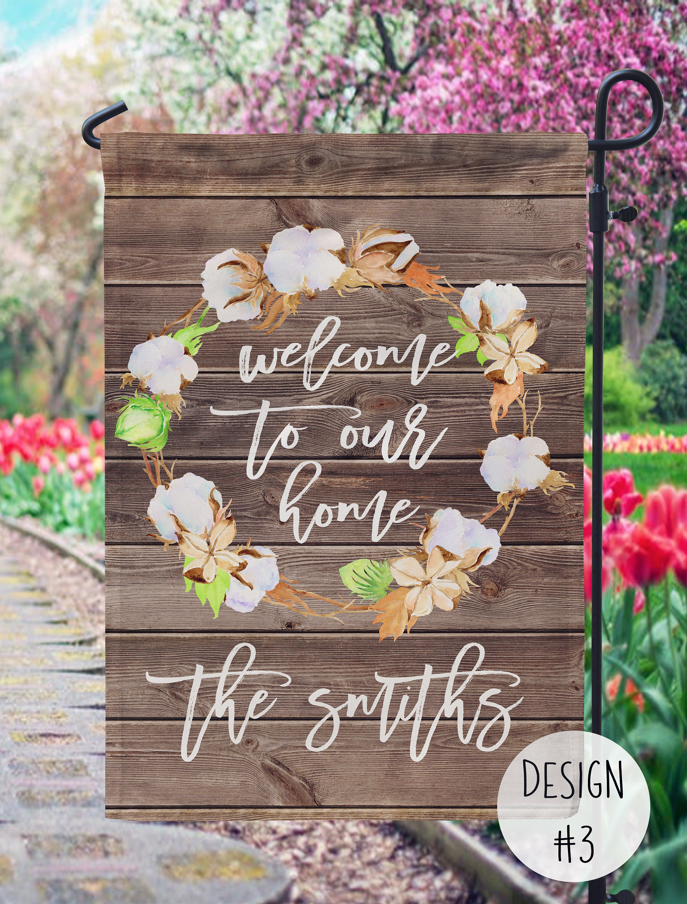 Personalized Garden Flag Farmhouse Style Landscaping Etsy