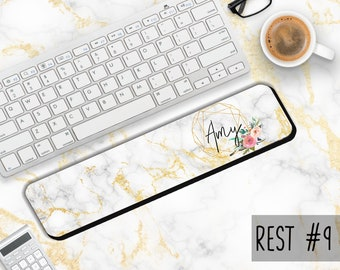 Personalized Keyboard Wrist Rest - Monogrammed Wrist Rest-Monogram Gifts-Desk Accessories-Initials-Personalized Gift - Made in USA