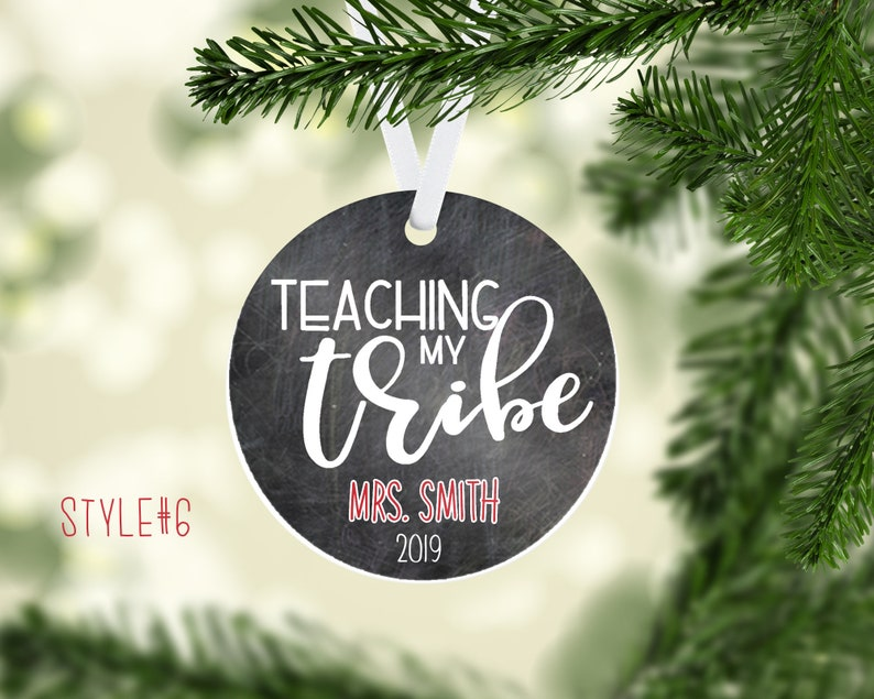 Christmas Ornament Personalized Gifts Gift Tag-Personalized Tree Ornaments-Personalized Christmas Gift Tags Teacher Personalized Ornament