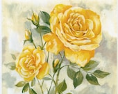 Decoupage Paper Napkins Yellow Rose and Music Rose Napkins Napkins Floral Napkins Romantic Napkins Paper Napkins for Decoupage