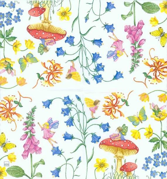 4 X Servilletas Decoupage elaboración de papel y flores tropicales de Mesa piñas 20