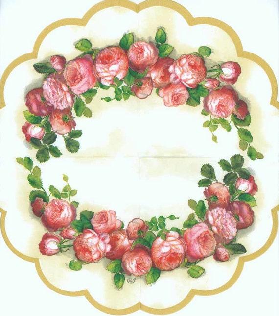 4 Turno Tovaglioli Inglese Rose Rosa Tovaglioli Tovaglioli Etsy