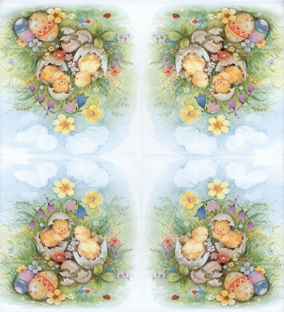 Individual Paper Decoupage Napkin Unique Creative Design Collection 809