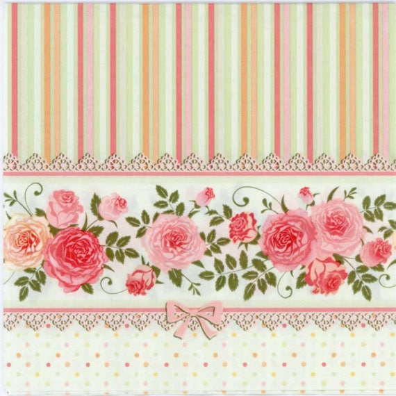 4 x Single Paper Napkins Floral Meadow Design for Decoupage Crafting Table 45