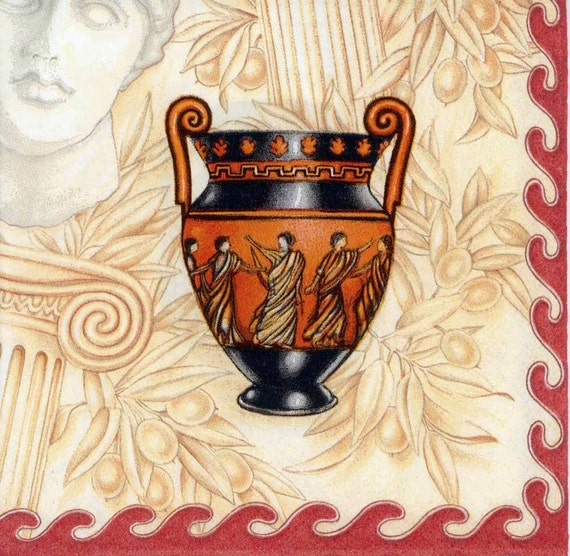 4 Decoupage Napkins Classical Greek Vases Art Napkins Etsy