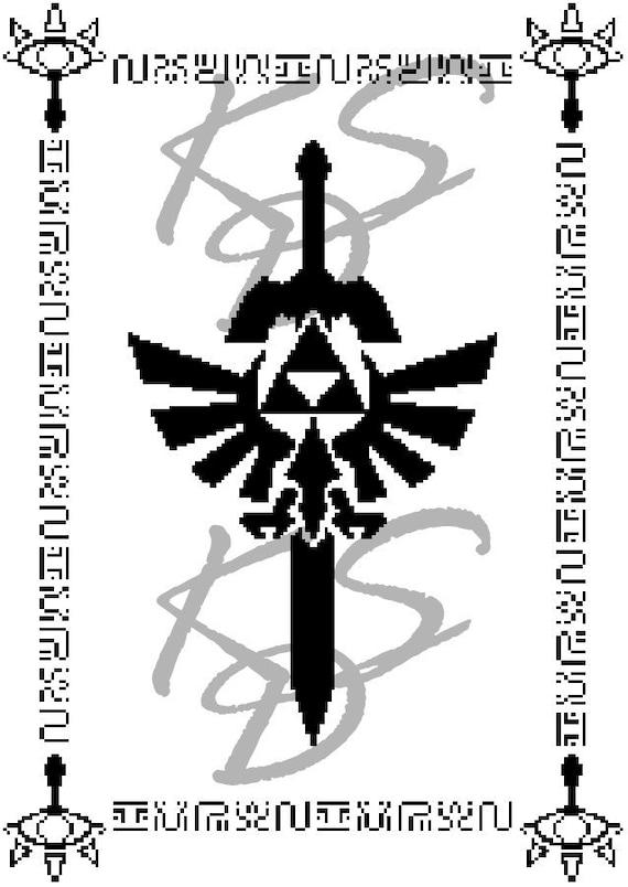 Legend Of Zelda Tribal Symbol Cross Stitch Pattern Etsy