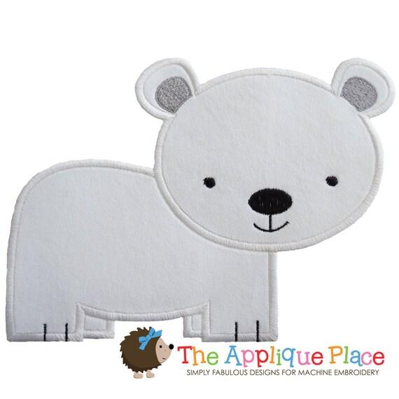 Diseño de apliques de oso polar instantánea Digital archivo   Etsy