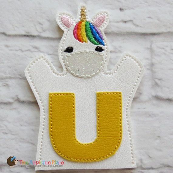 U de unicornio mano y los dedos de títeres en el aro | Etsy