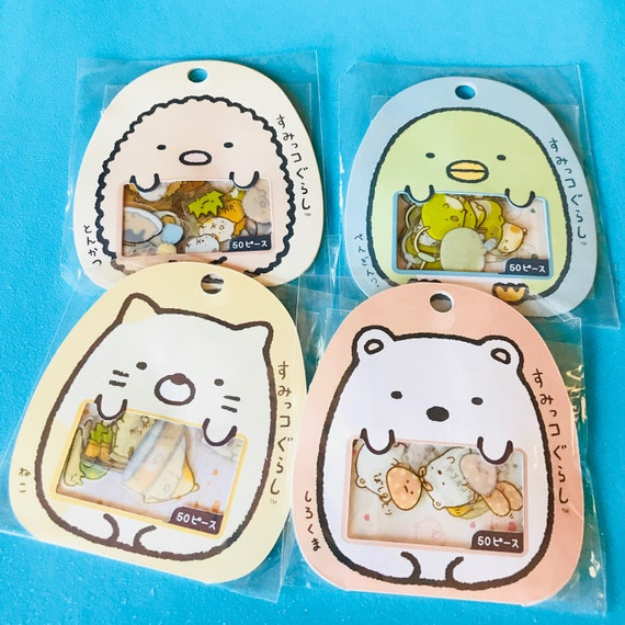 50PC Sumikko Gurashi Japanese Sticker Flake Kawaii Anime Cartoon Planner Sticker