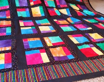 Quilts for Sale, Finished Quilt, Queen Quilt, 87 X 74,Handmade Queen Quilt, Patchwork Queen Quilt,  Quilts By Taylor