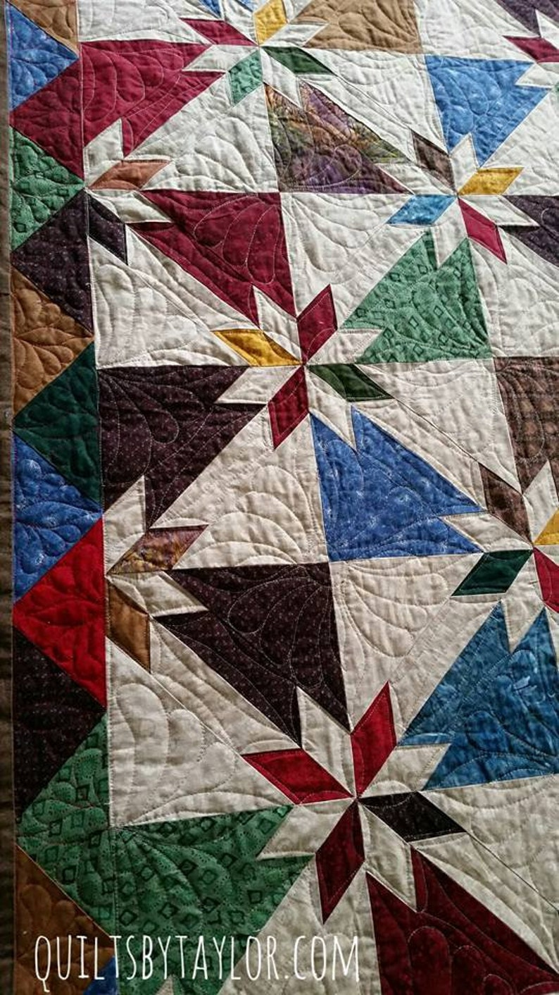 Homemade Quilts For Sale >> Quilts For Sale Hunters Star Quilt Made To Order Handmade Etsy