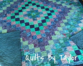 Quilt for Sale, Modern Patchwork Quilt, LAP Size Throw Quilt, Made To Order,  Handmade Quilts, Homemade Quilts, Quilts By Taylor,