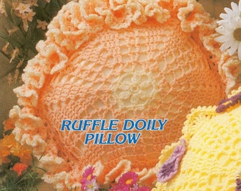 Crochet Ruffle Doily Pillow Pattern