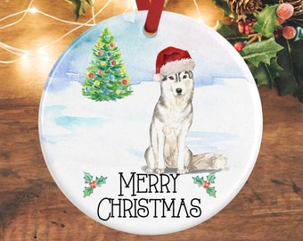 husky ornament husky christmas decoration personalised dog decoration husky gifts pet memorial