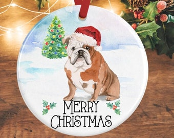 a6fe7bd34c8 English Bulldog Christmas Decoration English Bulldog Ornament Bulldog Gifts  Personalised Dog Decoration Dog Lover Gift Pet Memorial