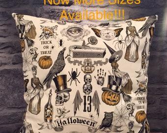 Halloween Pillow, Witch Pillow, Spooky Pillow, Raven Decor, Pillow Cover, Spider Pillow, Crow Pillow, Jack O Lantern