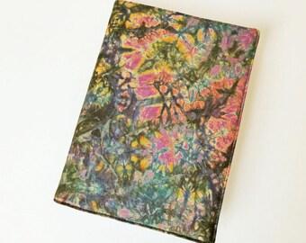 A5 'Batik' Planner Cover, Diary & Cover, Removable Book Cover, Fits Hobonichi Cousin, Batik Cotton, OOAK, UK Seller