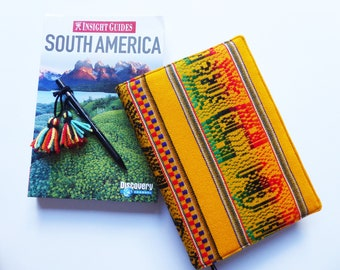 A5 'Inca' Planner Cover, Diary Cover, Journal Cover, Peruvian Fabric, Fits Hobonichi Cousin, South American Andean Textiles, UK Seller