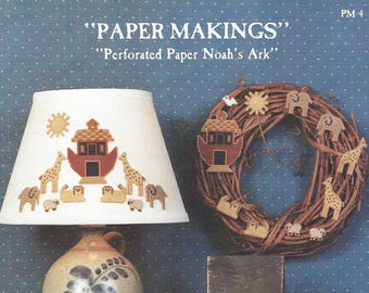Homespun Elegance - Paper Makings - Perforated Paper Noahs Ark - Counted Cross Stitch Pattern
