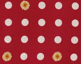 Robert Kaufman Quilt Fabric - Polka Dot Print - Flower Shop Series - 100% Kona Cotton - By the Yard