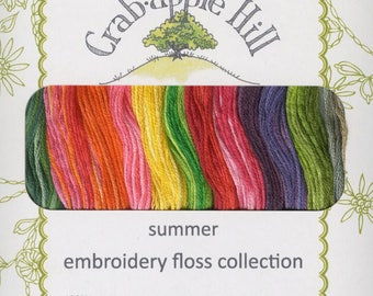 Crabapple Hill - Lecien Corporation - Cosmo Summer Embroidery Floss Collection - Twelve Skein Pack - 100% Cotton