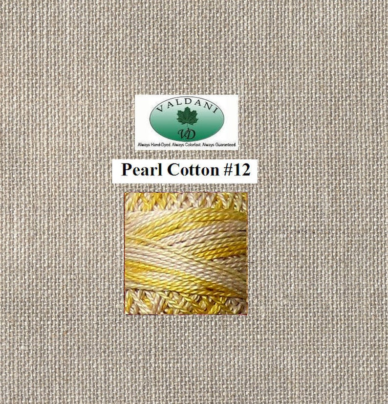 M67 Blurry Vanilla Valdani Pearl 12 100 Meter Ball Shades of Soft Yellows Cream