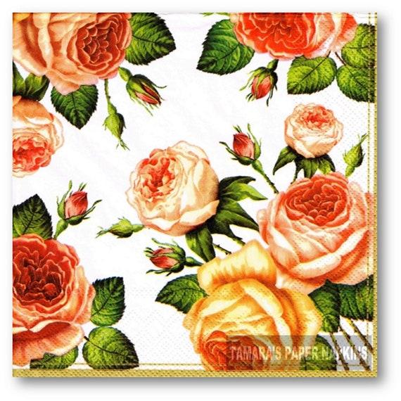 Ideal for Decoupage Napkin Art Nostalgia 4 x Paper Napkins