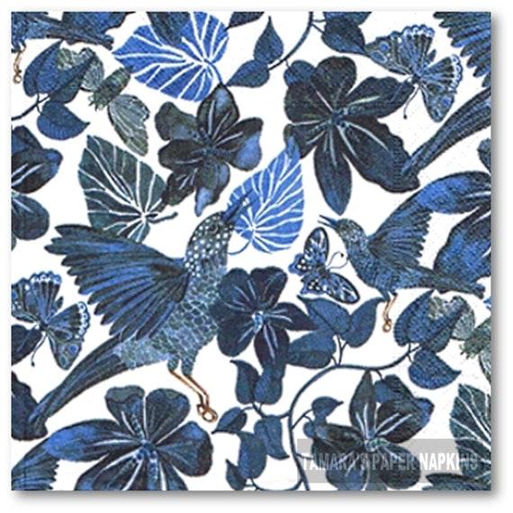 Decoupage Flowers Dancing 21cm x 21cm 6 Vintage Cocktail Paper Napkins