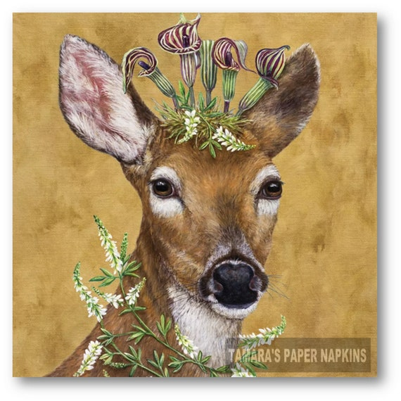 Squirell 56 4 Single paper decoupage napkins forest design