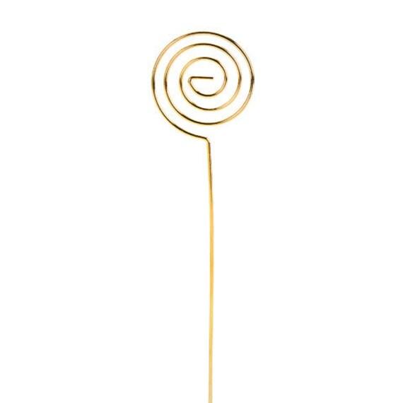 6 gold Draht Wirbel Tischkarte Halter Stiel Foto oder   Etsy