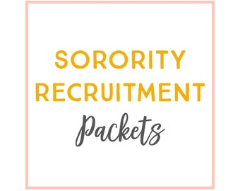 Sorority Recruitment Packets