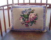 Vintage Needlepoint, Silk...
