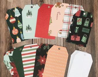 Christmas Gift Tag Set, Wine Bottle Tags, Christmas Wrapping, Milk Bottle Tags, DIY Christmas Gift Tags, Craft Kit