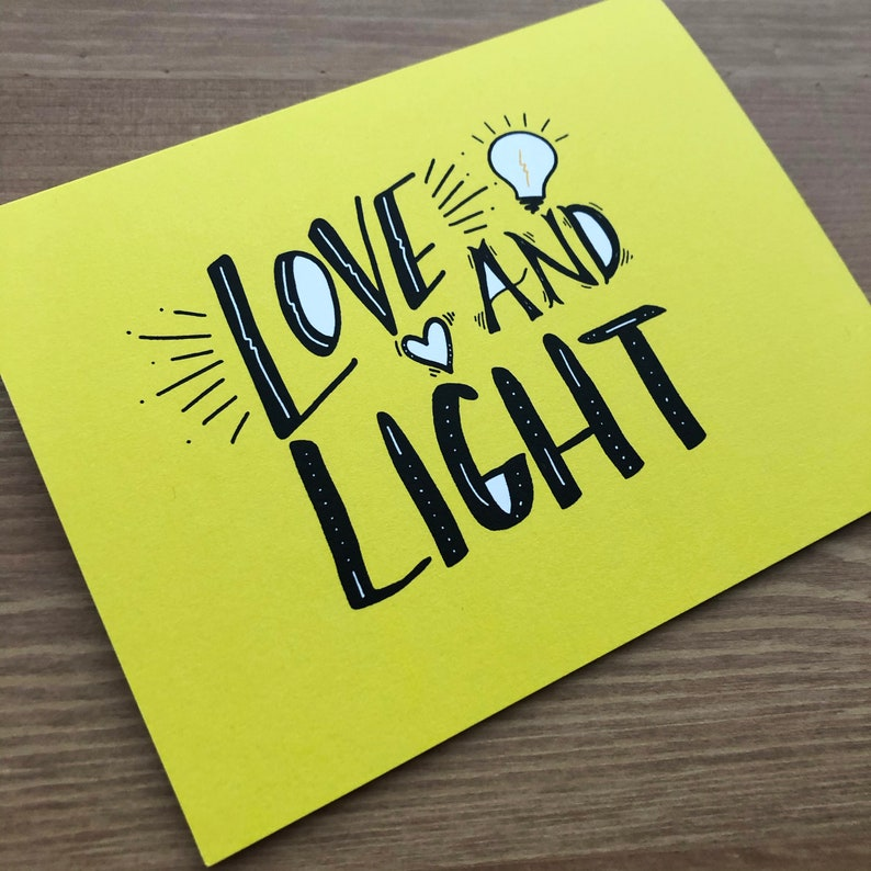 Stationery Love /& Light Card Christmas Card Letter Writing Birthday Card