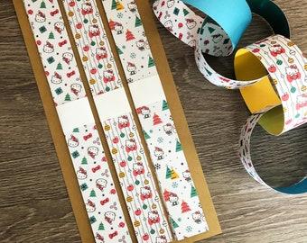 Hello Kitty Christmas Paper Chain Kit, Hello Kitty Christmas Decorations, DIY Christmas Craft Kit, Christmas Garland Craft For Kids