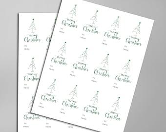 Festive Printable Christmas Tree Gift Tags, Merry Christmas Gift Tags, Season Of Giving, Christmas Wrapping