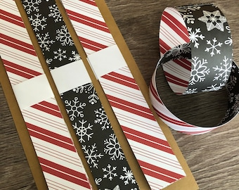 Candy Cane Christmas Paper Chain Kit, Candy Cane Christmas Decorations, DIY Christmas Craft Kit, Christmas Garland Craft For Kids