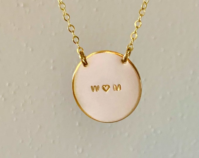 The HEART Initial Necklace